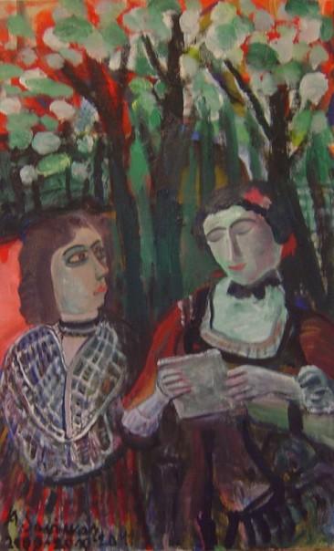 "Augustinas Savickas, ""Poetry Reading in Flowering Garden"", 2009-2011."
