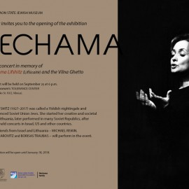 """Invitation to the opening of the exhibition """"Nechama"""" on 09 25"""