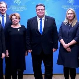 AJC Delegation Visits Vilnius, Meets Foreign Minister