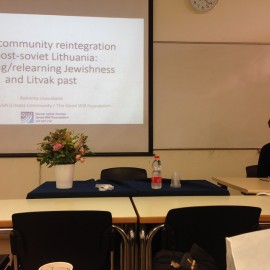 GWF gave presentation on Lithuanian Jewish identity in international conference in Israel
