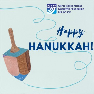 Good Will Foundation wishes you happy, bright and warm Hannukah!