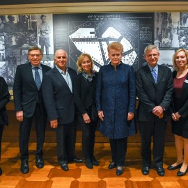 Lithuanian President Visits YIVO institute in New York