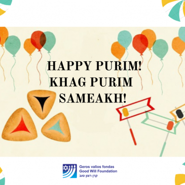 Good Will Foundation Wishes You Happy Purim!