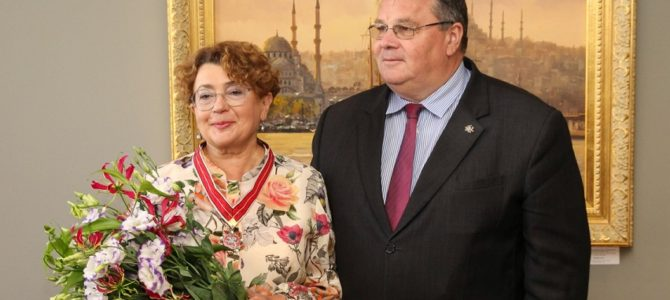 Good Will Foundation Board Chairwoman Awarded Star of Lithuanian Diplomacy