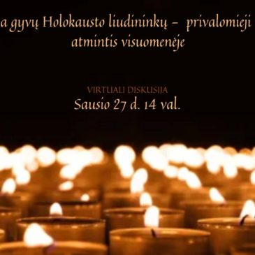 "Community invites everyone to join online discussion ""When there are no Holocaust Witnesses left – Mandatory Commemorations and Memory in Society"""
