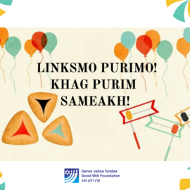 The Good Will Foundation wishes all of you a Happy Purim!