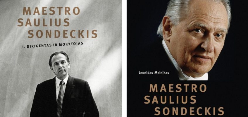 """The set of two monographs """"Maestro Saulius Sondeckis Vol. 1, Conductor and Teacher"""" and """"Maestro Saulius Sondeckis Vol. 2, Capacity of the Personality"""" (Lithuanian) by Leonidas Melnikas can be purchased at the Good Will Foundation"""