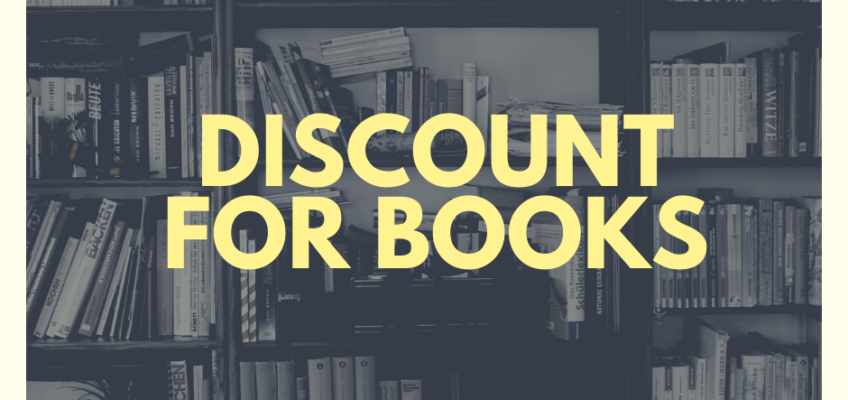 Discount for the books on the E-shop