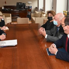 On October 15th – Important meeting between Foreign Minister G. Landsbergis and GWF Chairs F. Kukliansky and A. Baker